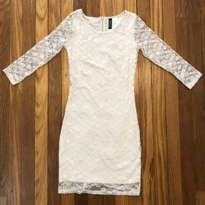 3for$20🔸H&M Divided Cream Lace (mini) Dress